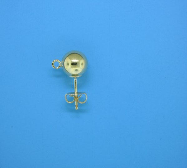 383 - 7mm Gold Filled Ball Earring With Open Ring