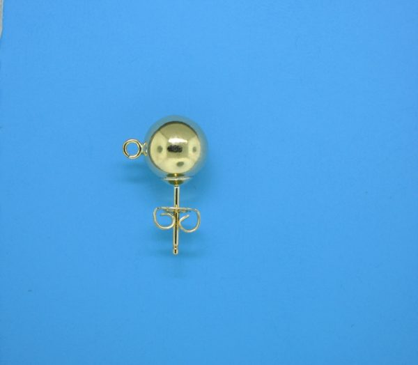 384 - 8mm Gold Filled Ball Earring With Open Ring