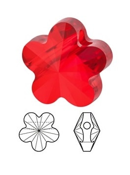 5744 - 6mm Flower Bead Colors