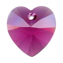 18x17.5mm - 6202 Heart Pendants