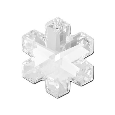 b188b8b5b44ae 6704 - 25mm Swarovski Snowflake Pendant - Crystal