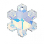 6704 - 20mm Swarovski Snowflake Pendant - Crystal AB