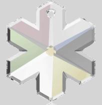 6704 Swarovski Snowflake Pendants