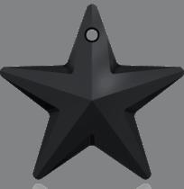 6714 Swarovski Crystal Star Pendants