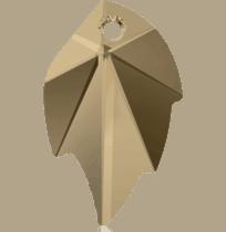 6735 Swarovski Crystal Leaf Pendants
