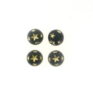 10mm Round Star Beads