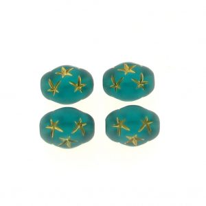 13x10mm Oval Star Beads