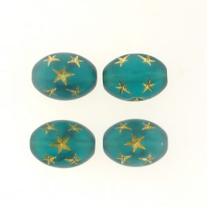 16x13mm Oval Star Beads