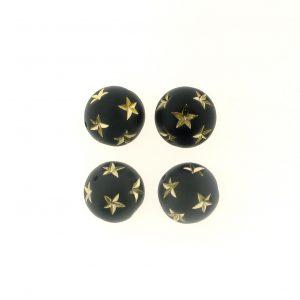 14mm Round Star Beads
