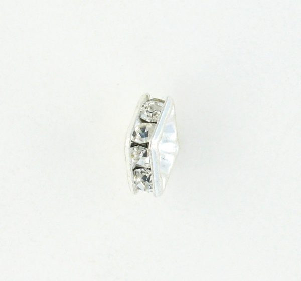 9851S - 4mm Rhinestone Squaredelle Silver Plated - Crystal