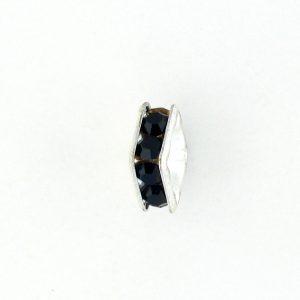 9851S - 4mm Rhinestone Squaredelle Silver Plated - Garnet