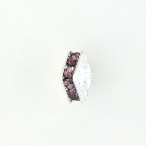 9851S - 4mm Rhinestone Squaredelle Silver Plated - Light Amethyst