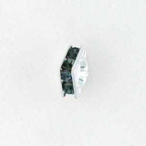 9851S - 4mm Rhinestone Squaredelle Silver Plated - Montana