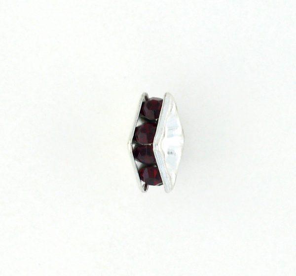 9852S – 6mm Rhinestone Squaredelle Silver Plated – Siam