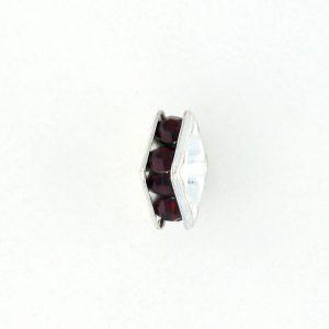9851S - 4mm Rhinestone Squaredelle Silver Plated - Siam