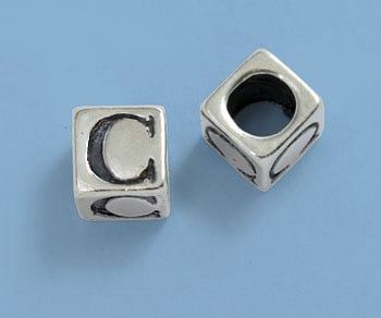 4.5mm Sterling Silver Alphabet Beads