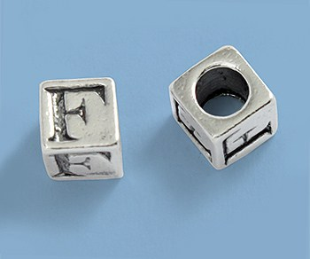 5.5mm Sterling Silver Alphabet Beads
