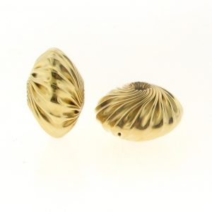 Twisted Corrugated Saucer Beads