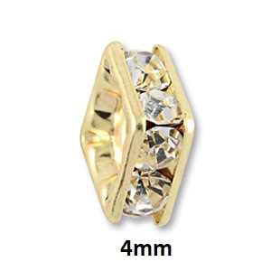 4mm Gold Plated Squaredelle