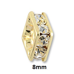 8mm Gold Plated Squaredelles