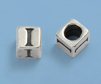6.5mm Sterling Silver Alphabet Beads