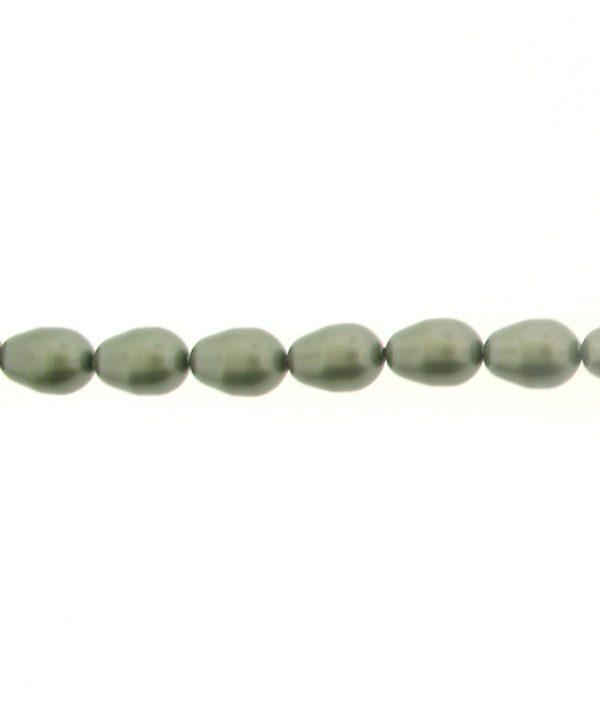 5821 - 11x8mm Swarovski Pear Shaped Pearl - Powder Green