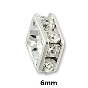 6mm Silver Plated Squaredelles
