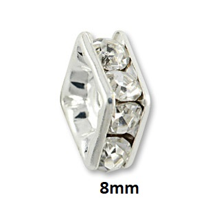 8mm Silver Plated Squaredelles