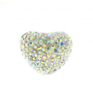 Heart Shamballa Beads