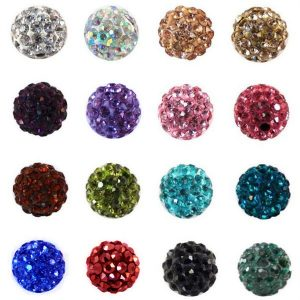 Round Shamballa Beads