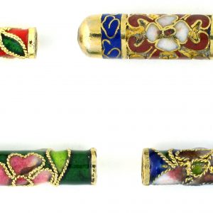 Tube Cloisonne Beads