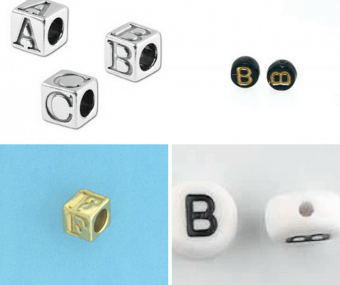 Buy Alphabet letter beads wholesale at Crystal Findings