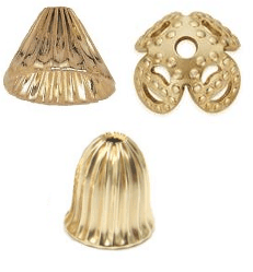 Gold Filled Cap Beads