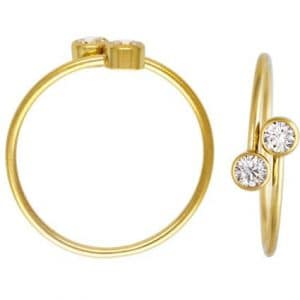 #12148 - 14K Gold Filled Adjustable Ring With 3A CZ