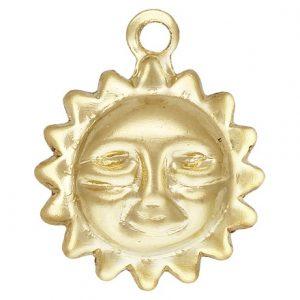 12210- 14K Gold Filled 8.0mm Sun Charm