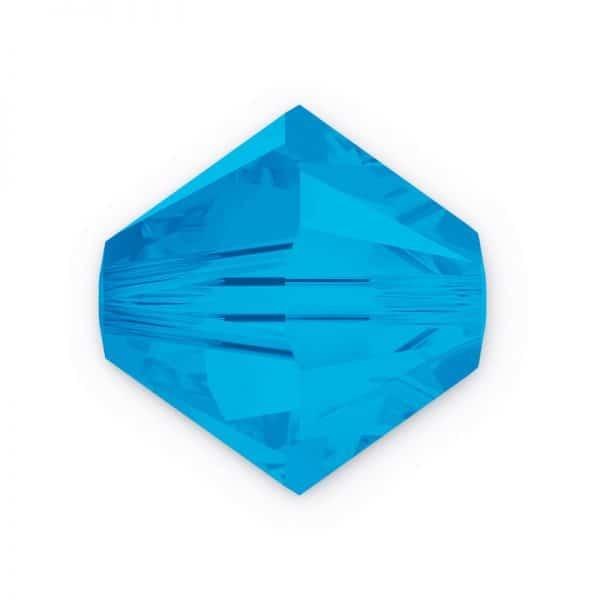 5301/5328 3mm Swarovski Bicone Crystal Bead-Caribbean Blue Opal