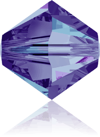 5301/5328 - 4mm Swarovski Bicone Crystal Bead-Heliotrope
