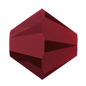 5301/5328 -6mm Swarovski Bicone Crystal Bead- Dark Red Coral