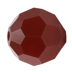 5000 - 6mm Swarovski Round Crystal - Dark Red Coral