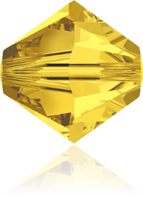 5301/5328 -6mm Swarovski Bicone Crystal Bead-Light Topaz