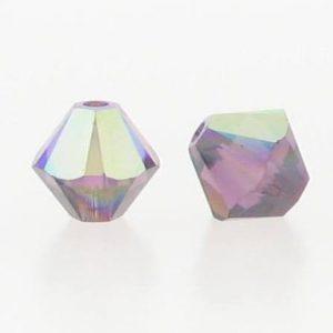 5301/5328 - 5mm Swarovski Bicone Crystal Bead - Amethyst AB
