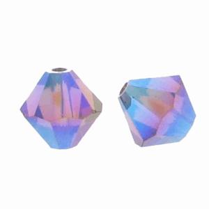 5301/5328 - 3mm Swarovski Bicone Crystal Bead - Amethyst AB2X