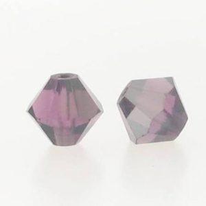 5301/5328 - 3mm Swarovski Bicone Crystal Bead - Amethyst Satin