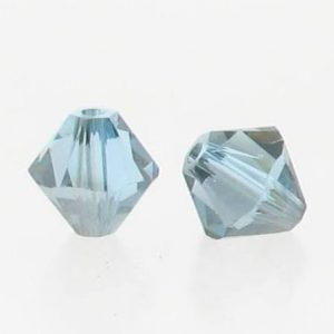 5301/5328 - 3mm Swarovski Bicone Crystal Bead - Aquamarine Satin