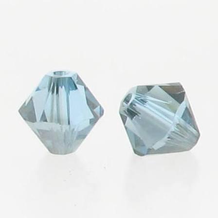 5301/5328 - 6mm Swarovski Bicone Crystal Bead - Aquamarine Satin