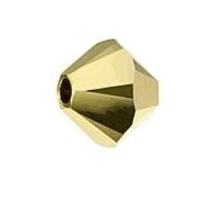 5301/5328 - 6mm Swarovski Bicone Crystal Bead - Aurum AB2X