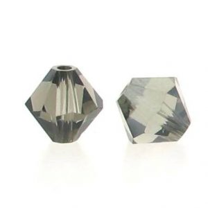 5301/5328 - 3mm Swarovski Bicone Crystal Bead - Black Diamond Satin