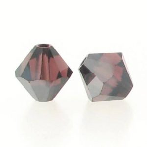 5301/5328 - 6mm Swarovski Bicone Crystal Bead - Burgundy Satin