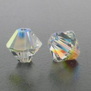 5301/5328 - 3mm Swarovski Bicone Crystal Bead - Crystal AB