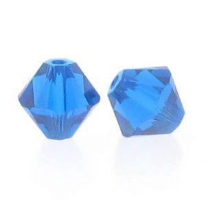 5301/5328 - 3mm Swarovski Bicone Crystal Bead - Capri Blue